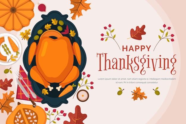 Concept de thanksgiving au design plat Vecteur gratuit