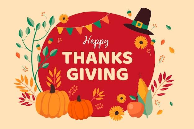 Concept de thanksgiving dessiné à la main Vecteur gratuit