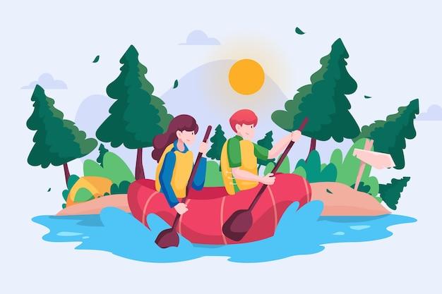 Concept De Tourisme écologique Vecteur gratuit