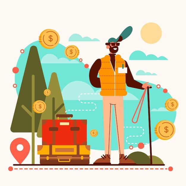 Concept De Tourisme Local Vecteur gratuit