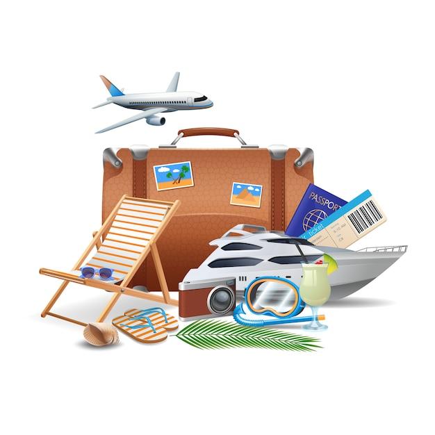 Concept de tourisme et de voyage Vecteur gratuit