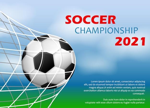 Concept De Tournoi De Football Ou De Football 2021. Vecteur Premium
