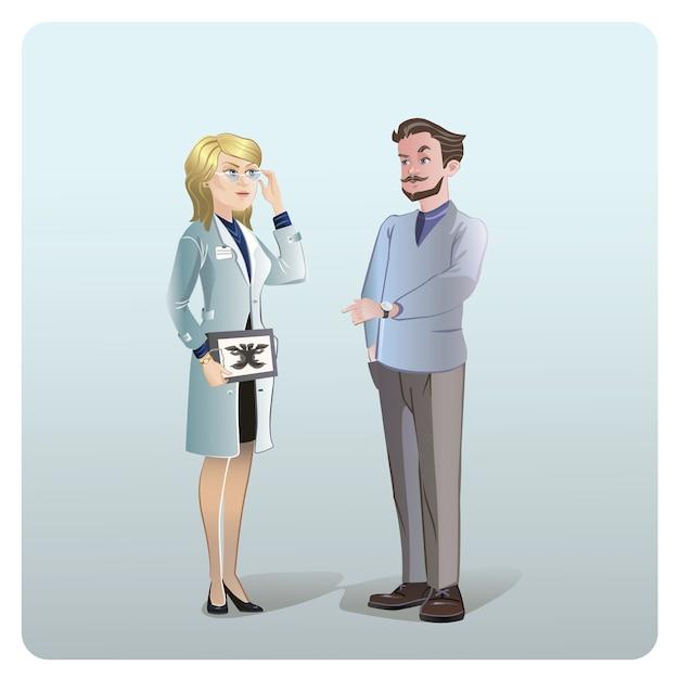 Concept De Traitement Médical De Dessin Animé Vecteur gratuit