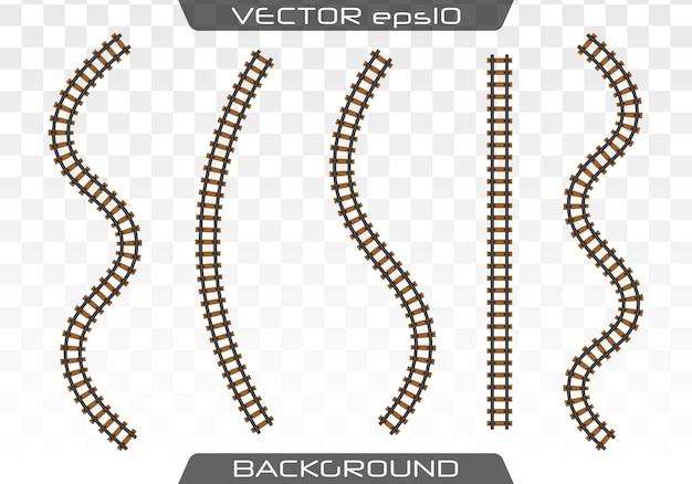 Concept De Transport Ferroviaire, Métro, Chemin De Fer. Vecteur Premium