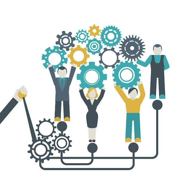 Concept de travail en équipe Vecteur gratuit