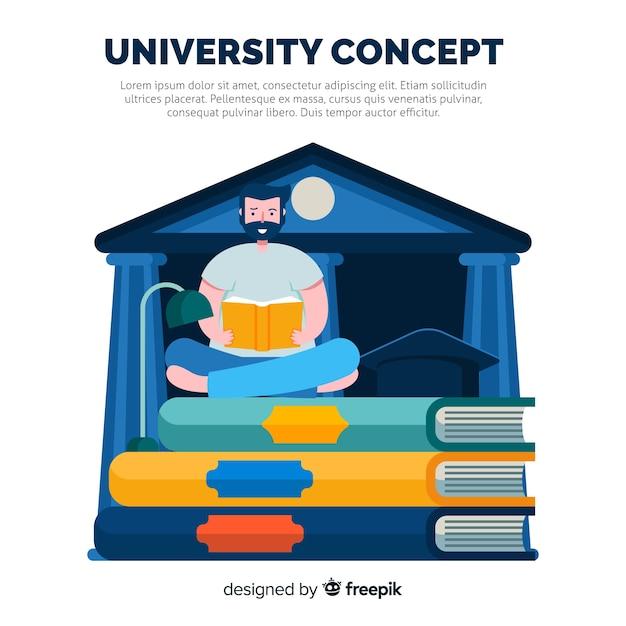 Concept universitaire plat Vecteur gratuit