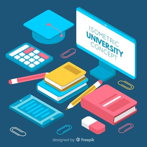 Concept d'université isométrique Vecteur gratuit
