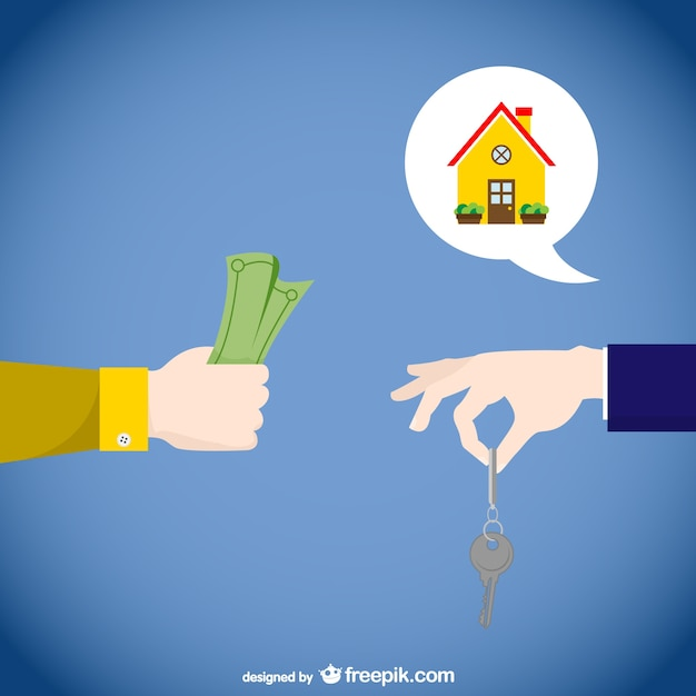 Concept De Vecteur De L'immobilier Vecteur gratuit