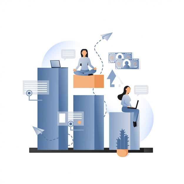 Concept de vecteur métaphorique de business pour bannière web, page de site web Vecteur Premium