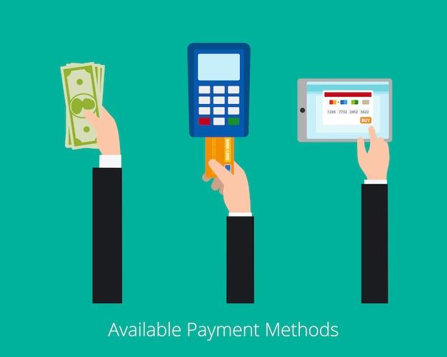 Concept de vecteur de paiement options Vecteur Premium