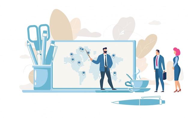 Concept de vecteur de planification de la croissance d'entreprise Vecteur Premium