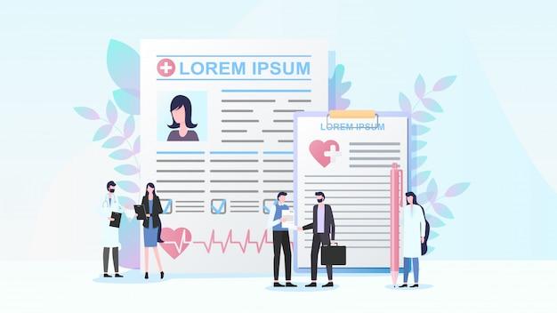 Concept de vecteur plat programme d'assurance maladie Vecteur Premium