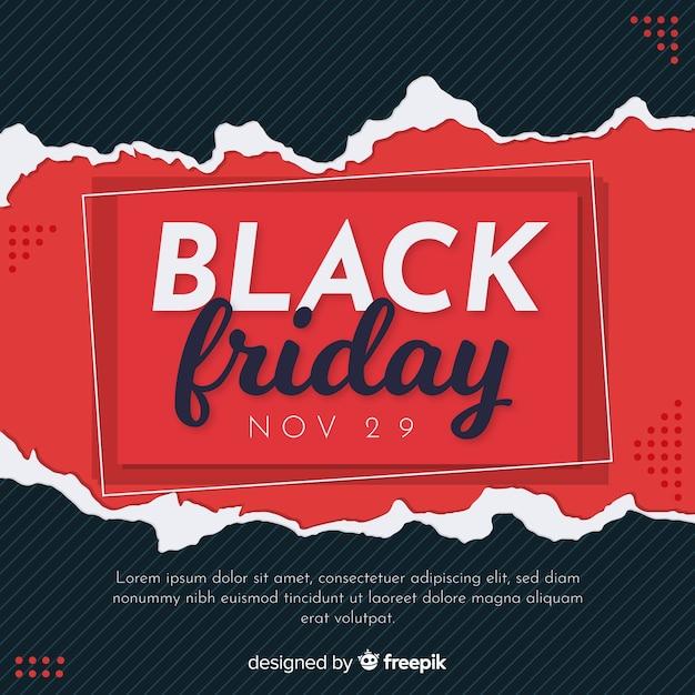 Concept de vendredi noir avec fond design plat Vecteur gratuit