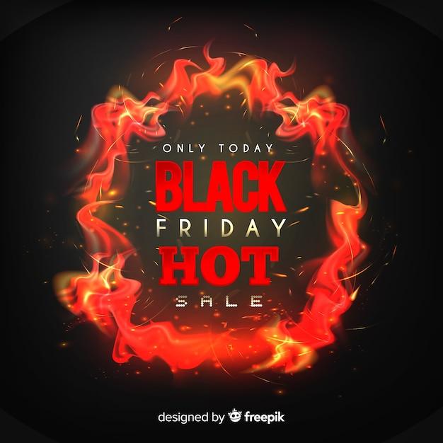 Concept de vendredi noir avec fond réaliste Vecteur gratuit