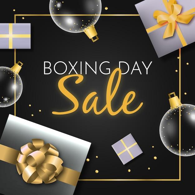 Concept de vente de boxe réaliste Vecteur gratuit