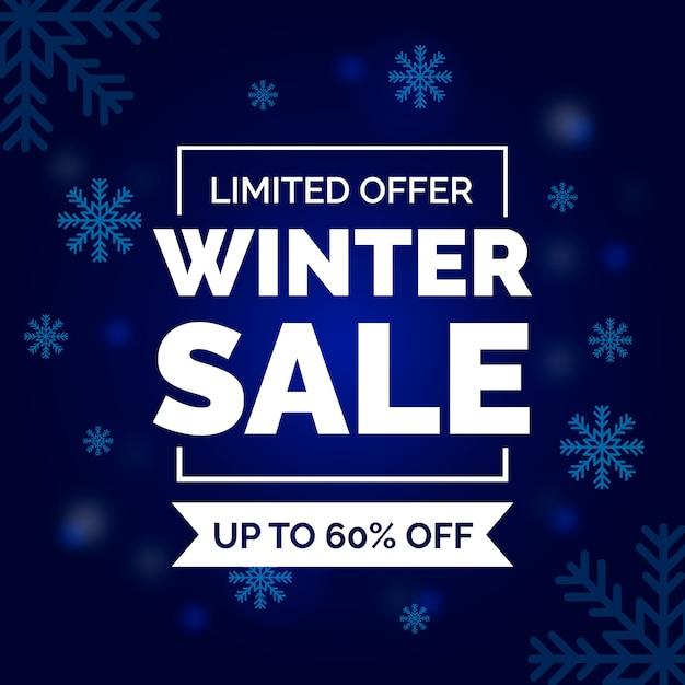 Concept de vente d'hiver design plat Vecteur gratuit