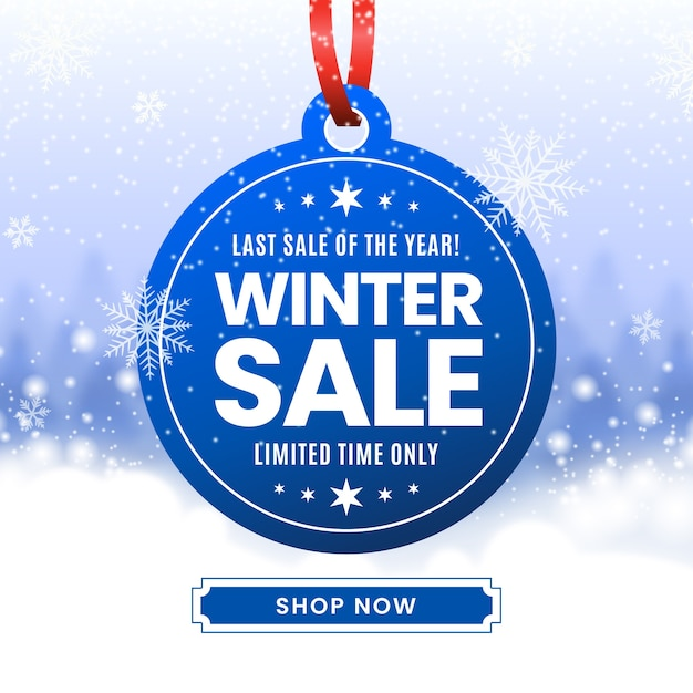 Concept de vente d'hiver flou Vecteur gratuit