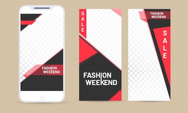 Concept de vente, interface utilisateur mobile. Vecteur Premium