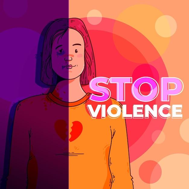 Concept De Violence De Genre Vecteur gratuit