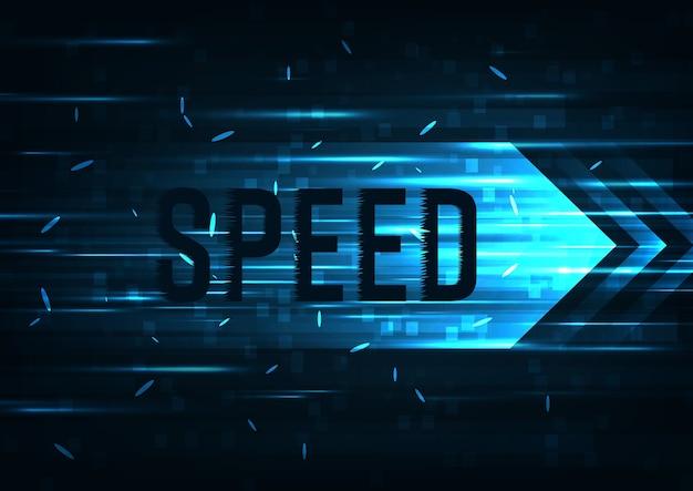 Concept de vitesse Vecteur Premium