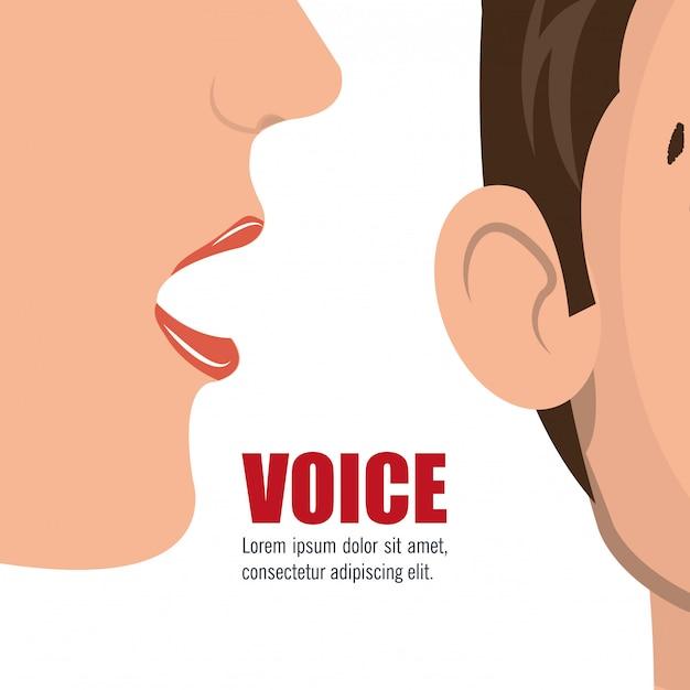 Concept de voix Vecteur gratuit