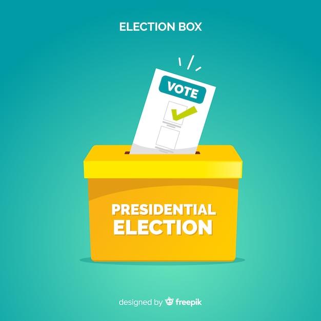 Concept De Vote Et D'élection Vecteur Premium