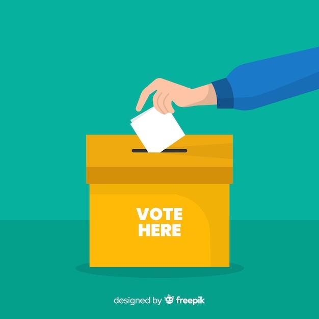 Concept de vote et d'élection Vecteur gratuit