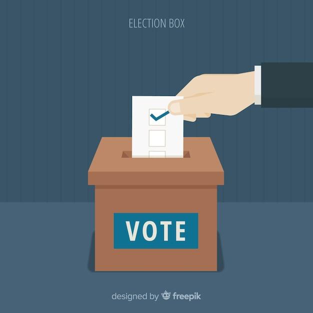 Concept de vote Vecteur gratuit