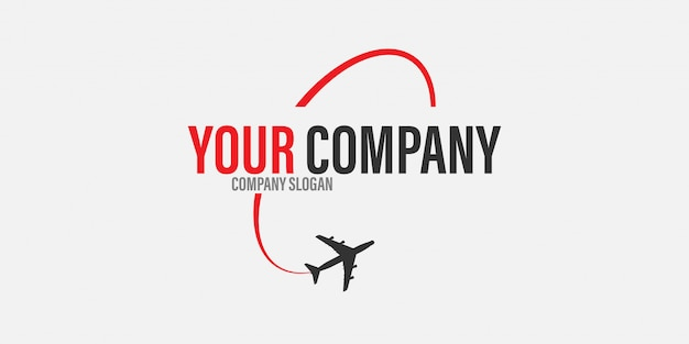 Concept De Voyage Logo Avion Vecteur Premium