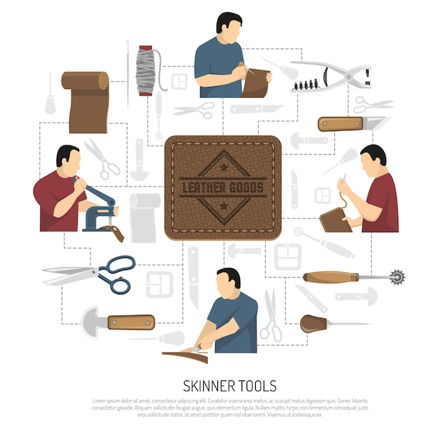 Concepteur d'outils skinner Vecteur gratuit