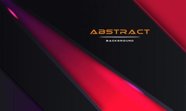 Conception 3d abstrait avec des couches de papier noir Vecteur Premium
