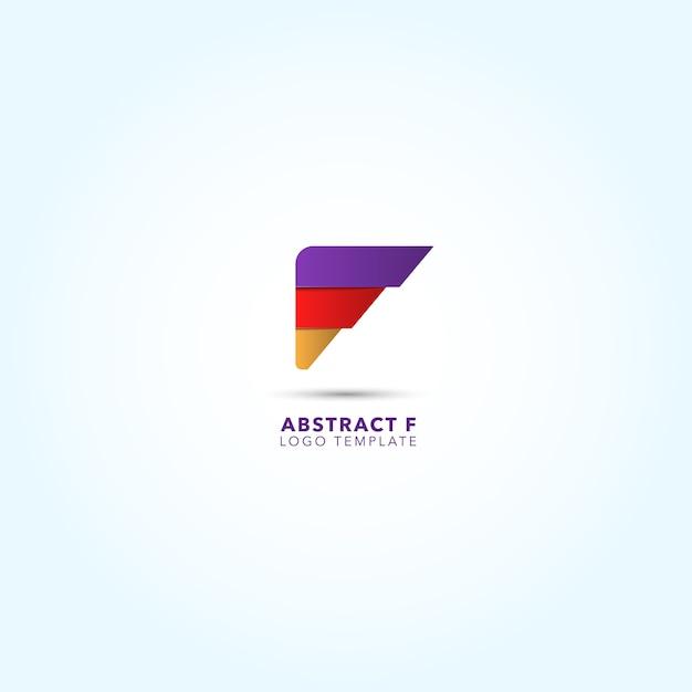 Conception abstraite du logo Vecteur gratuit