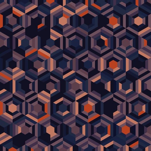 Conception Abstraite De Modèle Hexagonal De Modèle D'illustration Sans Soudure De Style Couleur. Chevauchement Pour L'arrière-plan De Style D'éléments Géométriques. Vecteur Premium