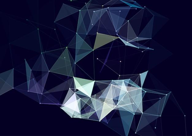 Conception Abstraite De Plexus Avec Lignes Et Points De Connexion Vecteur gratuit