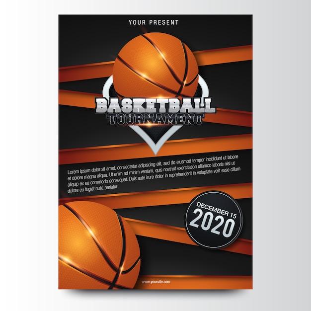 Conception d'affiche de basket-ball. illustration vectorielle Vecteur Premium