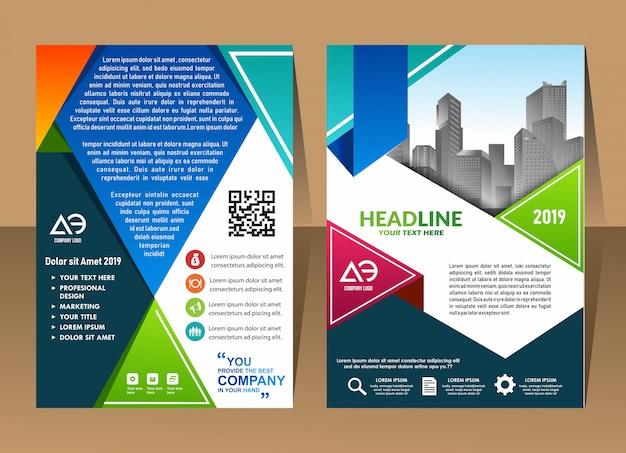 Conception affiche de couverture a4 catalogue livre brochure dépliant mise en page rapport annuel modèle d'affaires Vecteur Premium