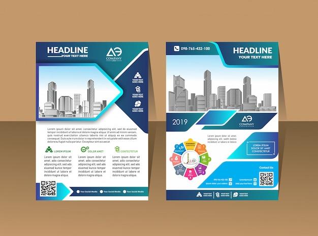 Conception affiche de couverture a4 catalogue livre brochure dépliant Vecteur Premium