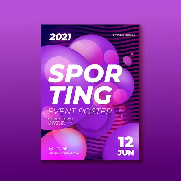 Conception D'affiche D'événement Sportif Vecteur gratuit