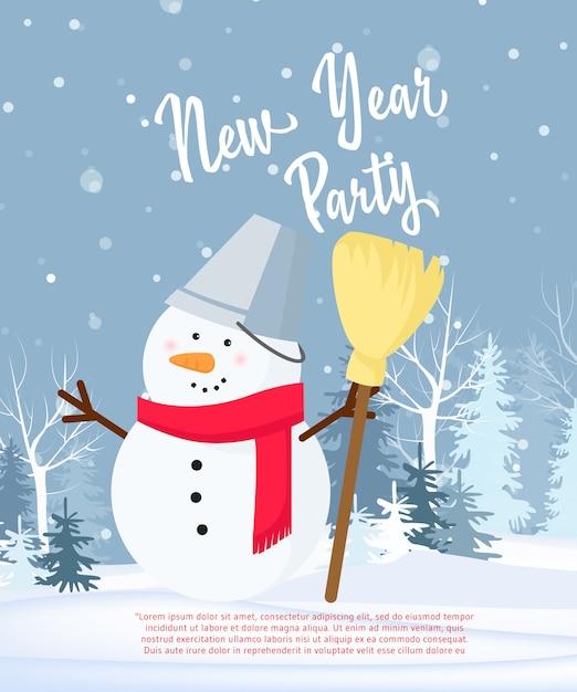 Conception d'affiche fête du nouvel an Vecteur gratuit