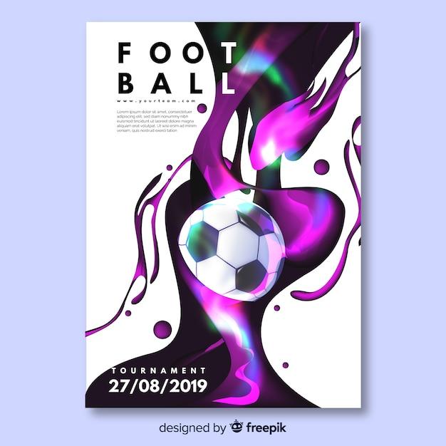 Conception d'affiche de football ou de flyer Vecteur gratuit