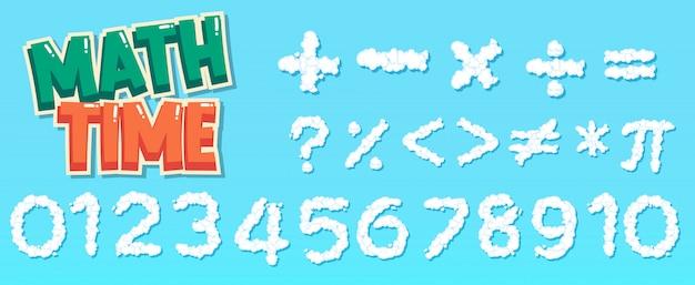 Conception D'affiche Pour Les Mathématiques Avec Des Chiffres Et Des Signes Vecteur gratuit