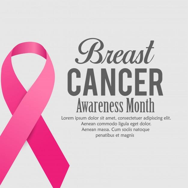 Conception d'affiche de sensibilisation au cancer du sein Vecteur Premium