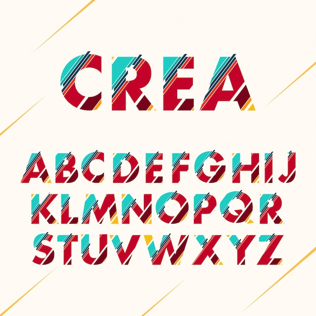 Conception de l'alphabet coloré Vecteur gratuit