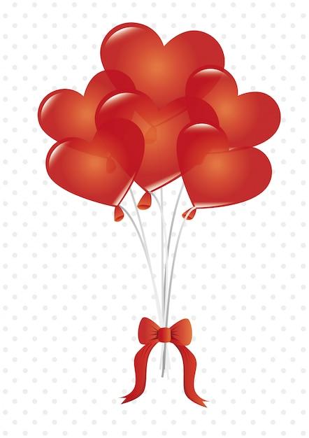 Conception de l'amour, illustration vectorielle. Vecteur Premium