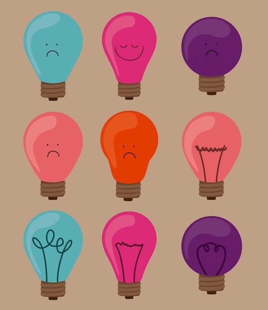 Conception de l'ampoule Vecteur Premium