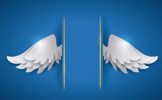 Conception de l'ange. Vecteur Premium