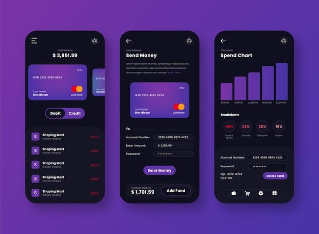 Conception De L'application Mobile De L'interface Utilisateur De La Passerelle De Paiement Vecteur gratuit