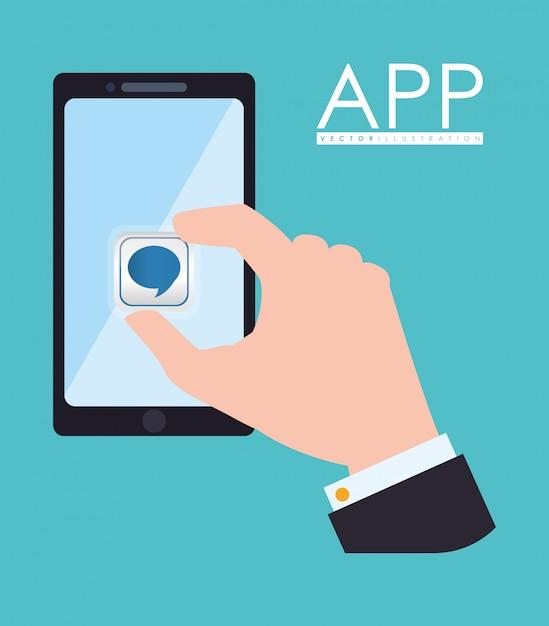 Conception de l'application Vecteur Premium