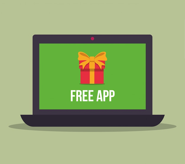 Conception d'applications gratuites Vecteur Premium