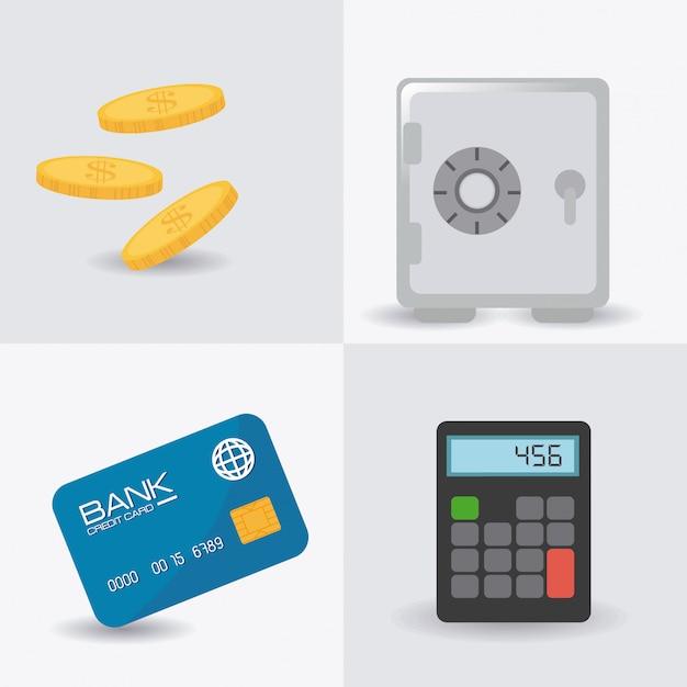 Conception de l'argent. Vecteur Premium